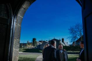 Blue sky at Oakham wedding